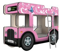 """Двухъярусная кровать-Автобус ОмниБус """"Бабочки"""""""