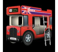 """Двухъярусная кровать-Автобус СлипинБас """"Лондон"""" красный"""