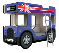 """Двухъярусная кровать-Автобус ОмниБус """"Лондон"""" синий"""