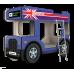 """Двухъярусная кровать-Автобус ОмниБус """"Лондон"""" синий, Carobus"""