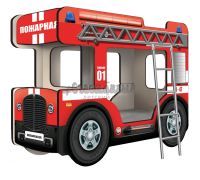 """Двухъярусная кровать-Автобус ОмниБус """"Пожарный"""""""