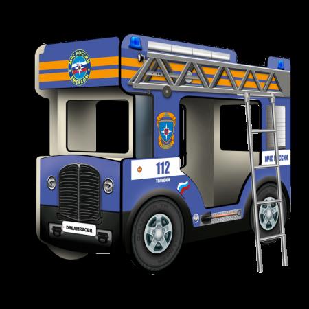 """Двухъярусная кровать-Автобус МикроБас """"МЧС"""" синий, Carobus"""