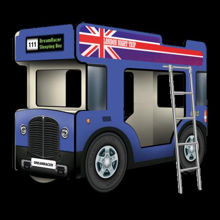 """Двухъярусная кровать-Автобус СлипинБас """"Лондон"""" синий, Carobus"""