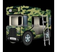 """Двухъярусная кровать-Автобус СлипинБас """"Милитари"""""""