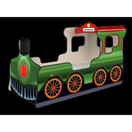 Кровать-паровозик «Звезда» зелёный, Carobus