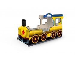 Кровать-паровозик «Звезда» жёлтый