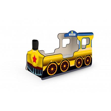 Кровать-паровозик «Звезда» жёлтый, Carobus