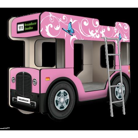 """Двухъярусная кровать-Автобус МикроБас """"Китти Кэт"""" розовый, Carobus"""