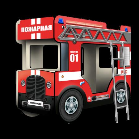 """Двухъярусная кровать-Автобус МикроБас """"Пожарный"""", Carobus"""