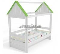 Кровать Домик Нежность-Т с тканевой крышей