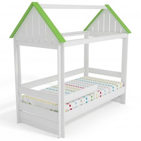 Кровать Домик Нежность-Т с тканевой крышей, Bambini Letto
