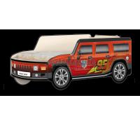 Кровать-машина Джип Хаммер «Молния» красный