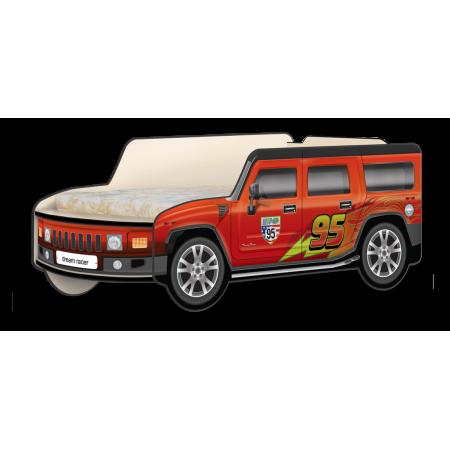 Кровать-машина Джип Хаммер «Молния» красный, Carobus