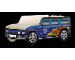 Кровать-машина Джип Хаммер «Молния» синий