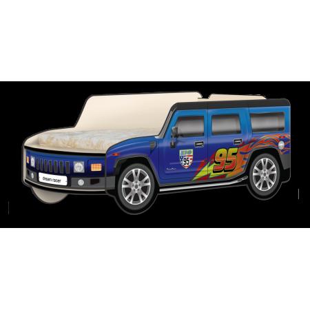 Кровать-машина Джип Хаммер «Молния» синий, Carobus