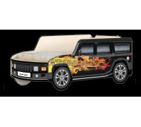 Кровать-машина Джип Хаммер «Пламя» чёрный