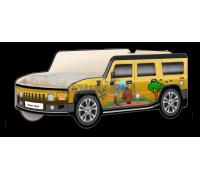 Кровать-машина Джип Хаммер «Пух СССР» жёлтый