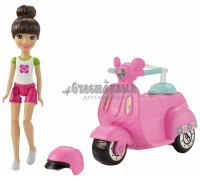 Кукла Barbie в движении скутер и кукла