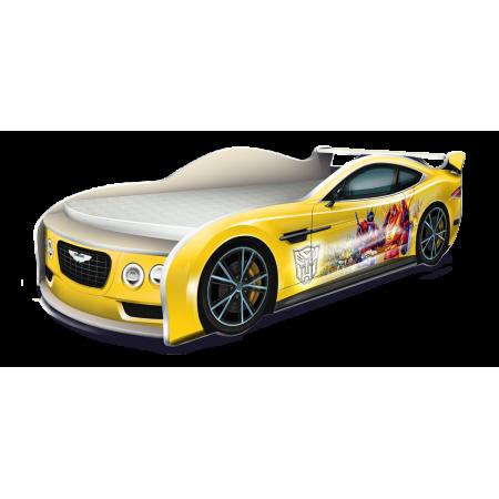Кровать-машина Астон Мартин Трансформеры жёлтый, Carobus