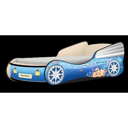 Кровать-машина Кабриолет Мэджик голубой, Carobus