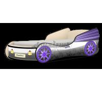 Кровать-машина Кабриолет Звёздочки серый