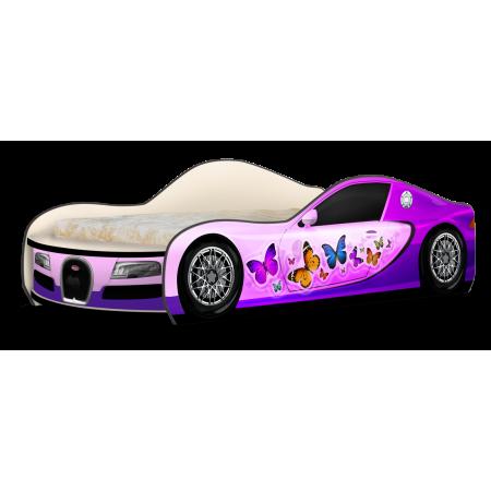 Кровать-машина ДжиТи Бабочки розовый, Carobus