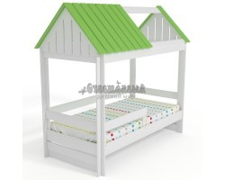 Кровать Домик Нежность-К С крышей без окна