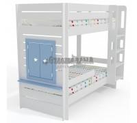 Двухъярусная кровать Малыш 2+ с окном