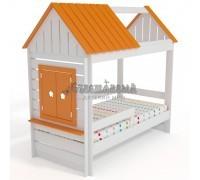 Кровать Домик Нежность К+ c крышей и окном