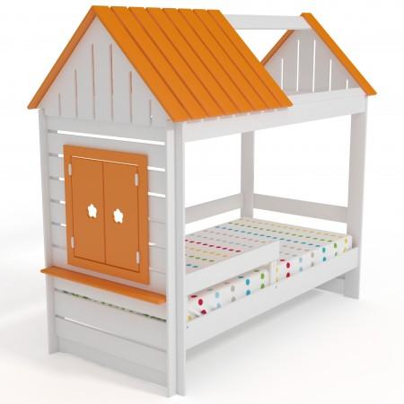 Кровать Домик Нежность К+ c крышей и окном, Bambini Letto