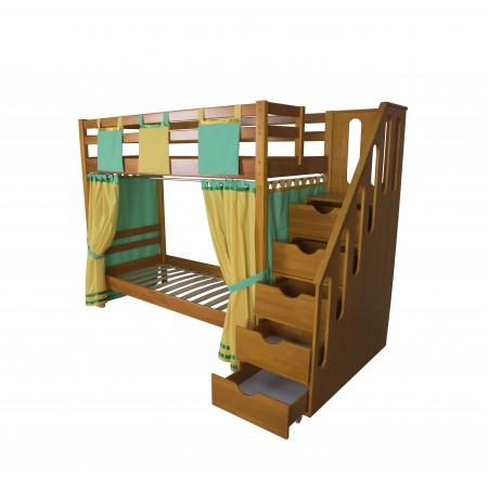 Двухъярусная кровать с лестницей - ящиками Альпинист, МЕБЕЛЬ ХОЛДИНГ