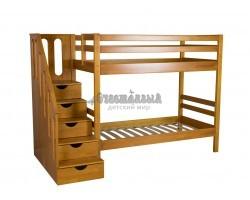 Детская двухъярусная кровать Журавушка массив сосны