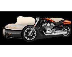 Кровать - Мотоцикл Харли чёрный