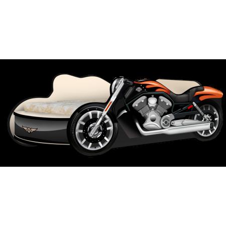 Кровать - Мотоцикл Харли чёрный, Carobus