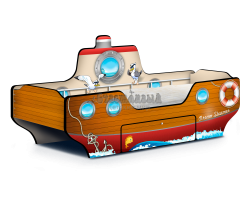 Кровать - Пароходик Dream Steamer коричневый
