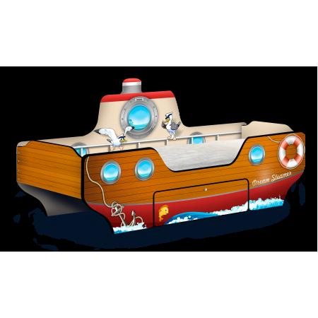 Кровать - Пароходик Dream Steamer коричневый, Carobus