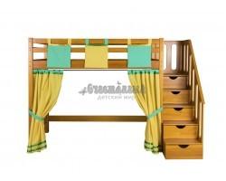 Кровать-чердак Непоседа из массива