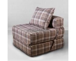 Бескаркасная мебель Морфей Тонкая коричневая Клетка