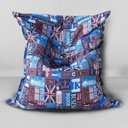 Детское кресло - подушка Знакомый Лондон, MyPuff