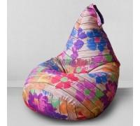Кресло мешок Цветы на Вагонке