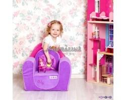 Детское бескаркасное кресло Фея Сиреневый