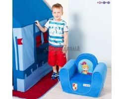 Игровое детское кресло Рыцарь Голубой