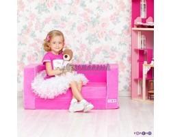 Раскладной игровой диванчик для девочки, цв. Розовый