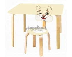 Комплект детской мебели Мордочки с ванильным столиком Песик