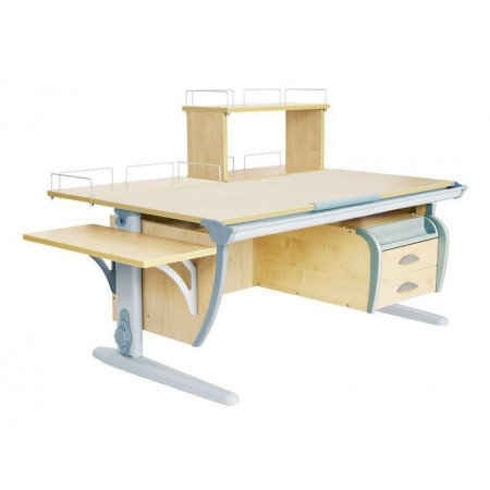 Парта Дэми СУТ 15-05Д (парта 120 см+задняя приставка+двухъярусная задняя приставка+боковая приставка+подвесная тумба), ДЭМИ Мебель