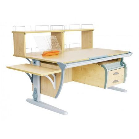 Парта Дэми СУТ 15-05Д2 (парта 120 см+две двухъярусные задние приставки+боковая приставка+подвесная тумба), ДЭМИ Мебель