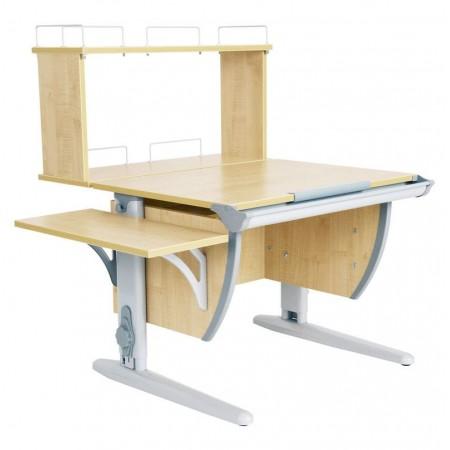 Парта Дэми СУТ 14-02Д (парта 75 см+задняя двухъярусная приставка+боковая приставка), ДЭМИ Мебель