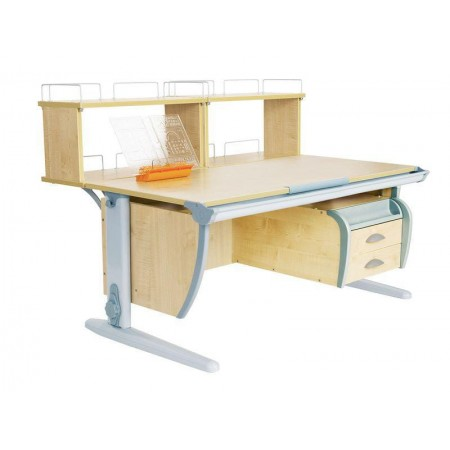 Парта Дэми СУТ 15-04Д2 (парта 120 см+две двухъярусные задние приставки+подвесная тумба), ДЭМИ Мебель
