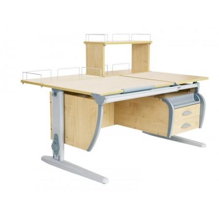 Парта Дэми СУТ 17-04Д (парта 120 см+задняя приставка+двухъярусная задняя приставка+подвесная тумба), ДЭМИ Мебель