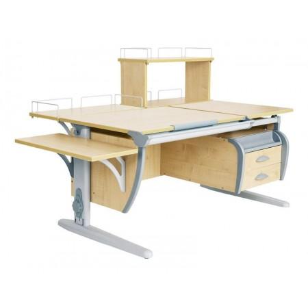 Парта Дэми СУТ 17-05Д (парта 120 см+задняя приставка+двухъярусная задняя приставка+боковая приставка+подвесная тумба), ДЭМИ Мебель